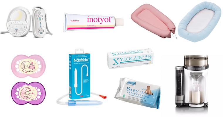 20 viktigaste bebisprodukterna