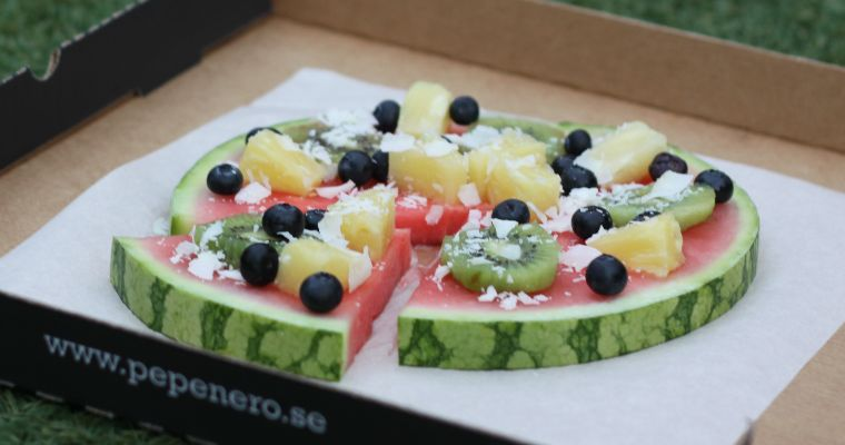 Vattenmelonpizza- en fruktig succé