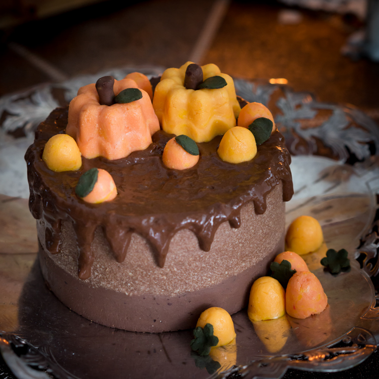 halloween cheesecake med pumpor