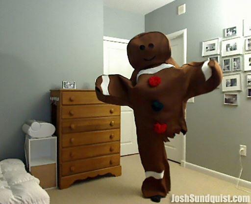Pris för bästa Halloween kostym går till mannen med ett ben 5a87228a54c72