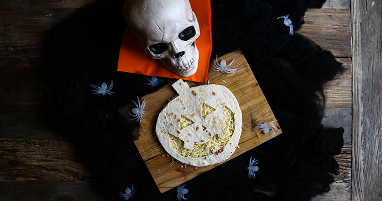 halloween tortilla quesadilla